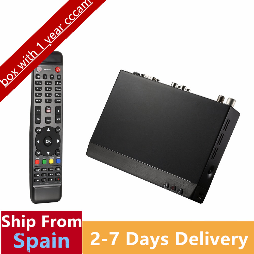 Freesat V8 Golden COMBO Satellite Receiver Receptor +USB WiFi with1 year server DVB-S2&DVB-T2&C TV Tuner Set Top Box de it es channels dvb s s2 satellite fta lines 1 year cccam clines newcamd usb wifi satellite tv receiver for free shipping