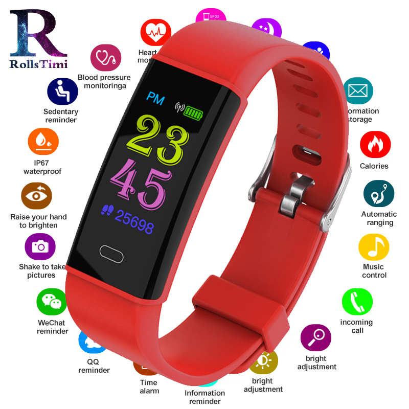 RollsTimi Mens Smart Watches New Waterproof Sports Fitness Tracker Smartwatch Women Blood Pressure Wristband Smart Wrist WatchRollsTimi Mens Smart Watches New Waterproof Sports Fitness Tracker Smartwatch Women Blood Pressure Wristband Smart Wrist Watch