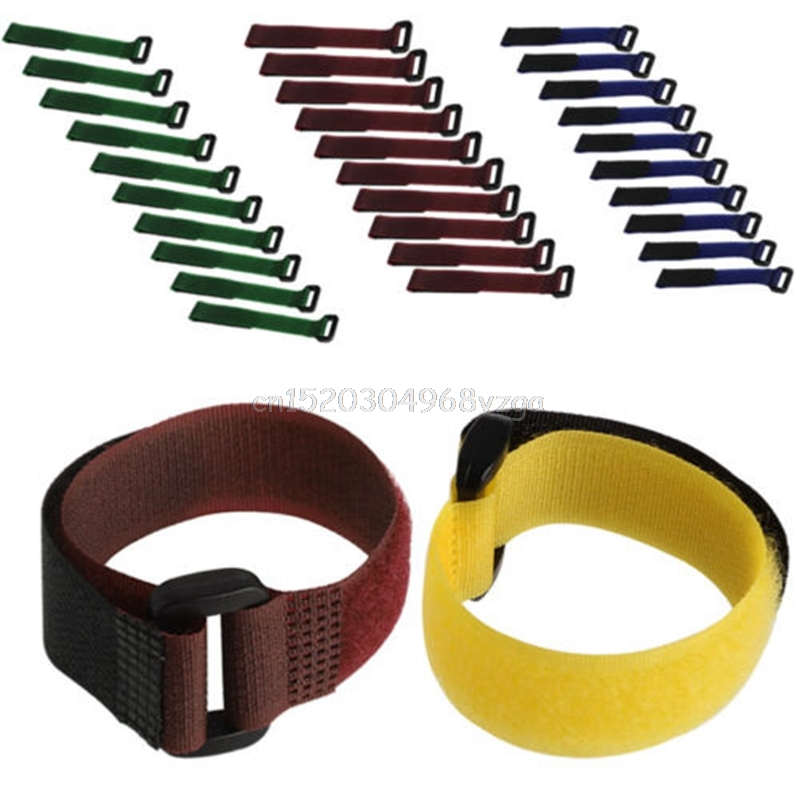 10Pcs 20*2cm Strong RC Battery Tie Down Strap Reusable Antiskid Cable Straps #H028# drop shipping цена