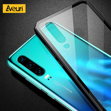 Купить с кэшбэком Aveuri Transparent Glass Phone Case For Huawei P20 P30 Pro P20 Lite Coque 9H Tempered Cover Case For Huawei Mate 20 Pro Honor 10