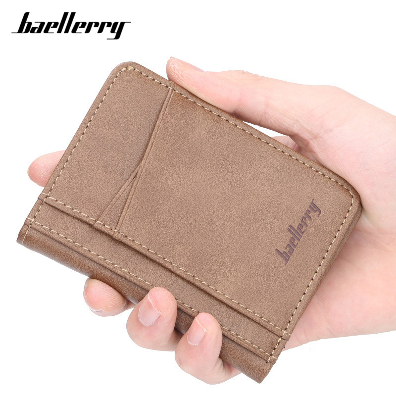Baellerry Many Departments Slim Wallets Men Leather Brand Designer Mens Small Wallet Carteira Card Holder Male Purse
