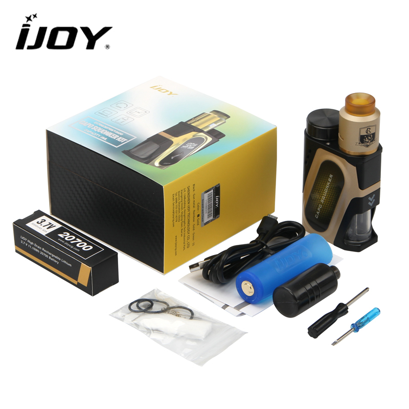 Original IJOY Capo Squonker Kit CAPO SQUONKER 100W Box with CMBO RDA Triangle Tank fit 21700 / 20700 / 18650 Battery original ijoy saber 100 20700 vw kit max 100w saber 100 kit with diamond subohm tank 5 5ml