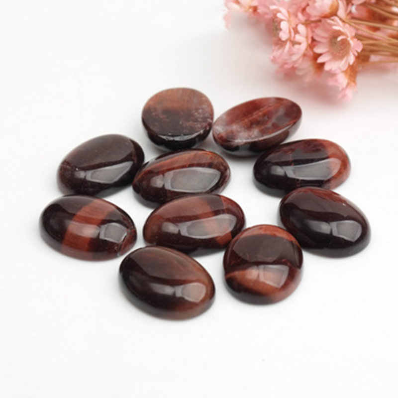 Selectable Size 5PCS/lot Oval Red Tiger Eye CAB Cabochon Beads For Jewellery Making Beads Ring Pendant DIY Beads Trinket Gift