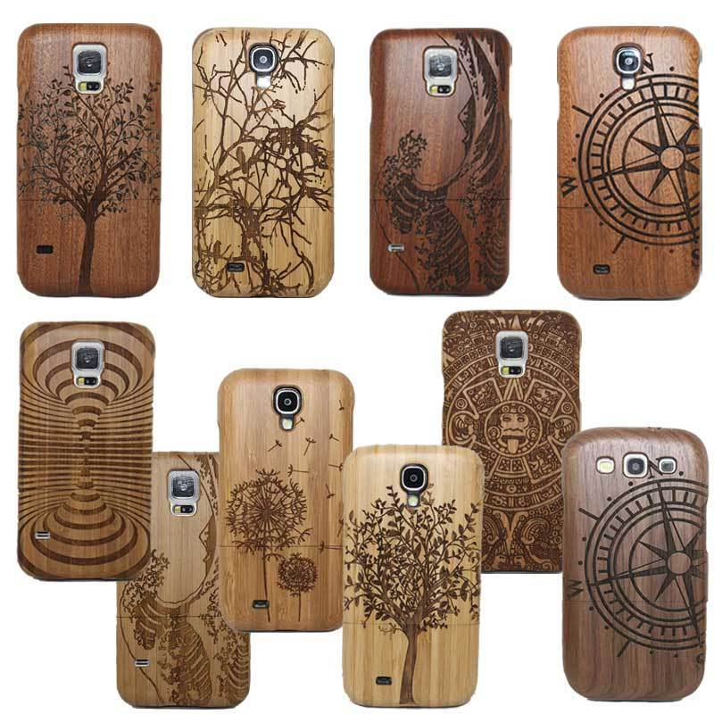 Classic Retro Mayan Pattern Bamboo Wood Carving Phone Case For Samsung Galaxy S8 S6 Edge S7 S9 Plus/S4 S5 MINI Neo S9