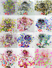 USD9/50grams Glitter Mixed Round Dots Spangle Nail Sequin Flake Shape for DIY Craft Art Gel Acrylic Makeup