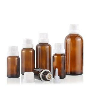 Image 5 - 5 100ML Großen Kopf Bernstein Braun Glas Drop Flasche Aromatherapie Flüssigkeit für ätherisches grundlegende massage öl Pipette Flaschen nachfüllbar
