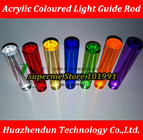 DIY Custom Product  Colored Plexiglass Light Guide Rod Luminescent Wall Manufacture Processing Decorative Rod Acrylic Round Bar