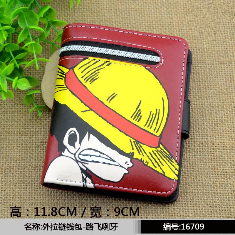 Q-style One Piece Dry Matter Cartoon Wallet Marvel Cute Pu Wallets Sword Art Online/Kantai Collection/Luffy Purse Cion Wallets