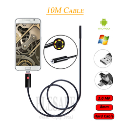 8mm 2.0MP 10M kabel 2-In-1 Android endoskop kamera wodoodporna boroskop inspekcja kamera do Androida telefonu Samsung