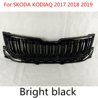 For SKODA KODIAQ 2017 2018 2019 High quality ABS Chrome Car styling Front Grille Trim Racing Grills Trim Plastic Grill
