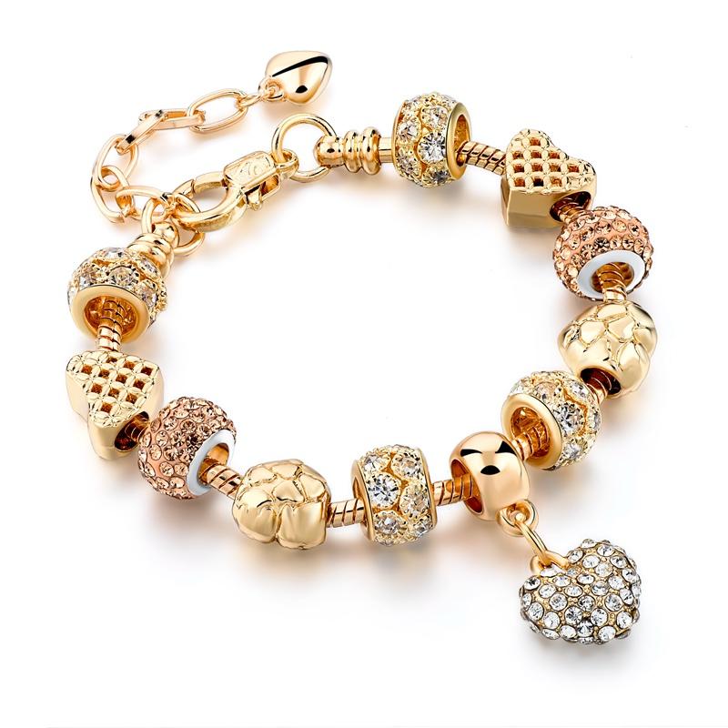 Crystal Heart Charm Bracelet 12