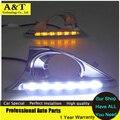 A & T carro styling 2012-2014 Para Camry Camry led Daytime Running Luz de Nevoeiro luz de Alta Qualidade LED DRL