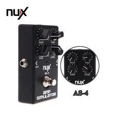 NUX ALS-4 Verstärker-simulator Violão E-gitarre Effektpedal True Bypass Schwarz Musikinstrument Teile Elektronische