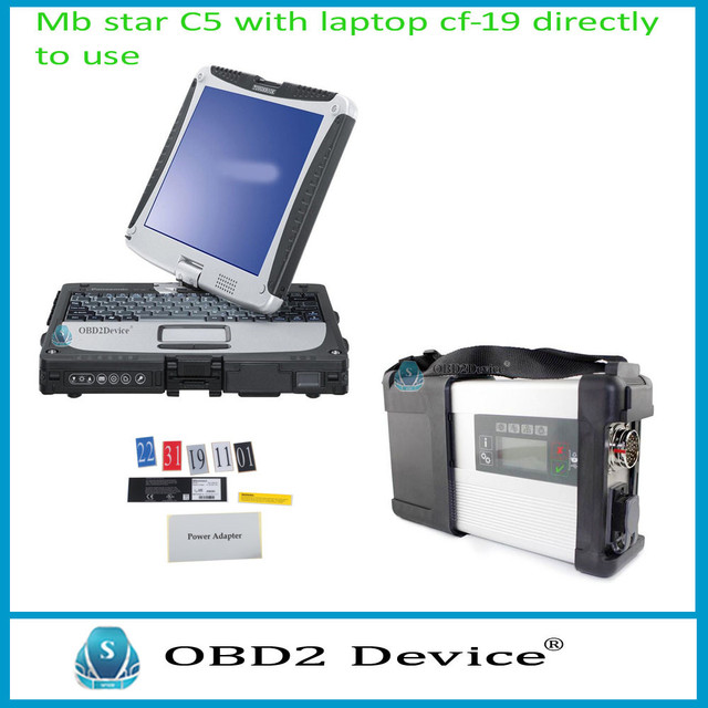 DHL free! MB Star C5 SD Conenct c5 with laptop cf19 Toughbook diagnostic PC with software V2017.03 hdd for sd c5 directly to use