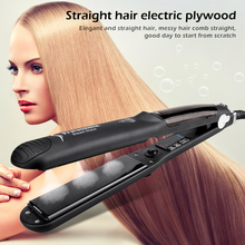 Professional 2IN1 Straightener/curling Iron Curl Modeling Tool Salon Styler Ceramic Steam Hair Electric Hair Rollers Dropship
