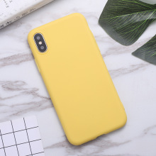 Fashion Phone Case For iPhone 7 6 6s 8 X Plus 5 5s SE XR XS Max Simple Solid Color Ultrathin TPU Candy Back Cover