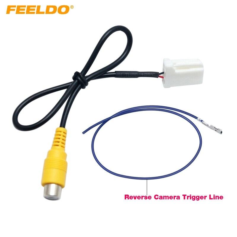Feeldo 5pcs Car Parking Reverse Rear Camera Video Plug Converter Cable Adapter For Mazda Atenza/cx-5 Oem Car Head Unit Models Cables, Adapters & Sockets