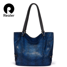 Realer women shoulder bag high quality genuine leather luxur
