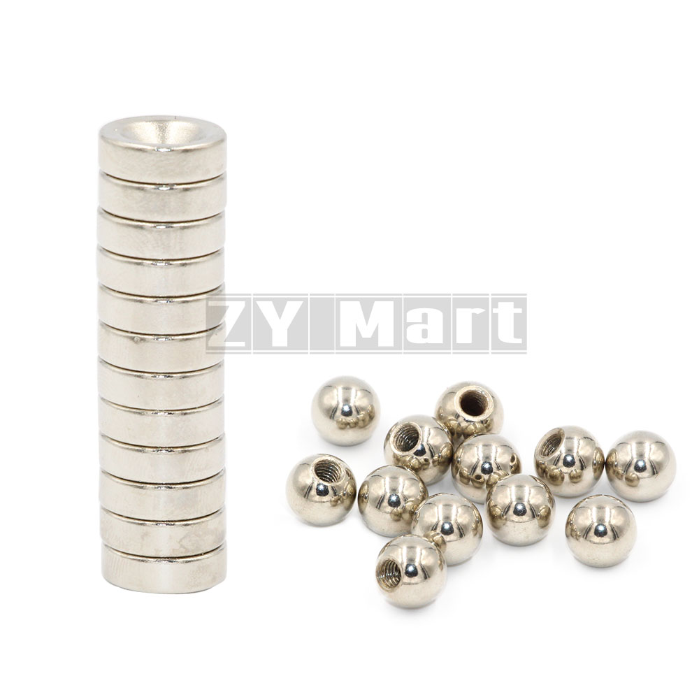 12kit=24pcs Reprap Delta Kossel K800 Round Screw Ball + Round Magnetic Bracket For 3D Printer