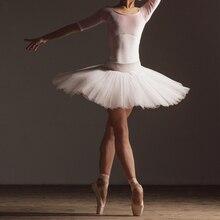 Professionale Lago Dei Cigni di Ballo Bianco Nero Rosa Elastico In Vita Danza Classica Per Adulti Tutu Ballerina Morbida 4 Strato Della Maglia di Tulle del Pannello Esterno della Sfera tutu
