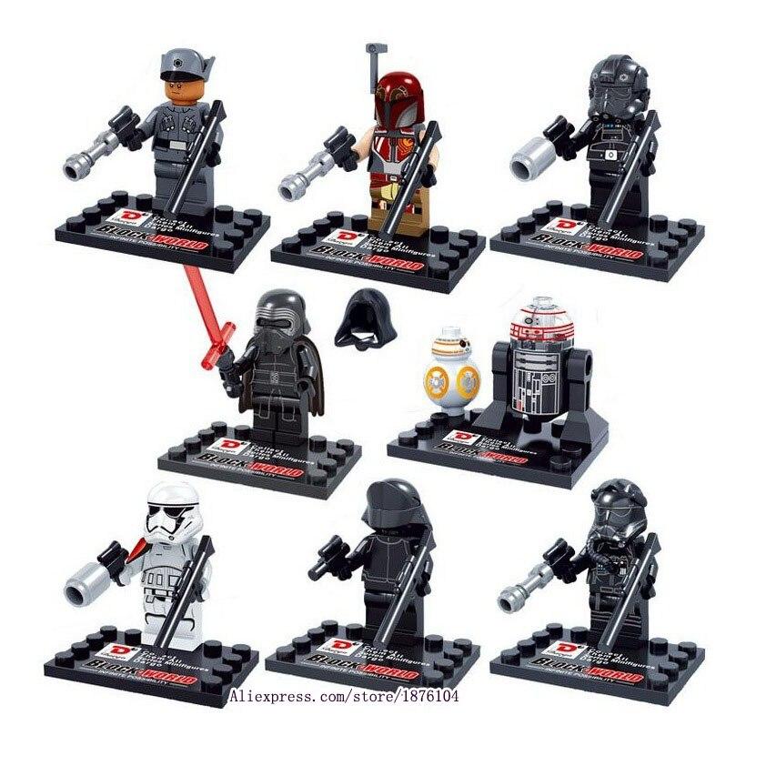 8 stücke legoeINGly Star Wars Die Kraft Weckt Mini Bausteine Figuren Modell Spielzeug Für Kinder Super Heroes Ziegel Juguetes