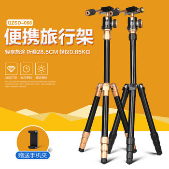 """Q066 new design aluminum tripod for videl camera 46.65"""" inch camera trepied with 1/4 screw rotary panoramic ball head"""