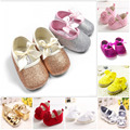 Baby Girl's Shoes Summer Style Lace Bow Yarn Lace Pink White Yellow Newborn Infant Sapatos de bebe Sandiales Fille Shoes