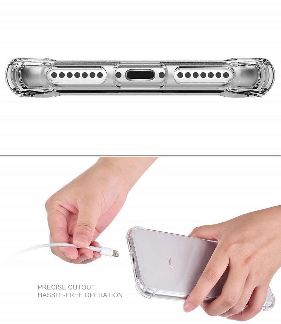 الفاخرة حقيبة لهاتف أي فون X XR XS ماكس 8 7 s زائد سيليكون الهاتف حقيبة لهاتف أي فون X XS XR XS ماكس رقيقة جدا لينة غطاء من البولي يوريثان الحراري كوكه كابا