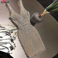 TaoHill коктейльные платья цвета шампанского с блестящими кристаллами и бисером короткое платье для выпускного вечера с двойным v-образным вырезом сексуальные блестящие мини-платья для выпускного вечера