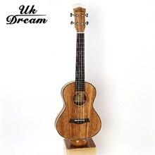 Guitarra acústica de 26 pulgadas Completo Cebra-no Barril Delgado Ukulele Guitarra 4 Cuerdas de Guitarra Instrumentos Musicales De Madera Perilla Cerrada UT-226T