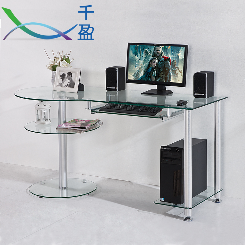 minimalist home computer desk stylish glass landmark small. Black Bedroom Furniture Sets. Home Design Ideas