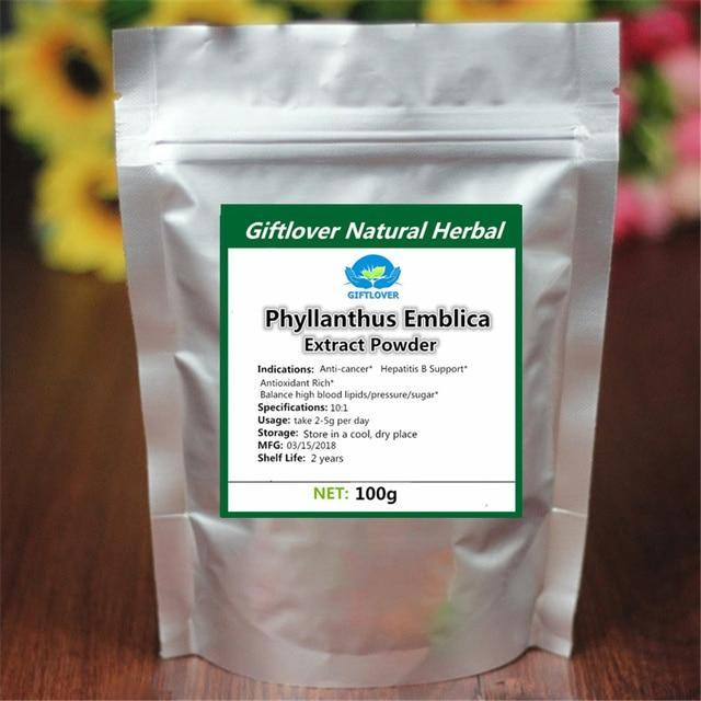 US $19 74 48% OFF|100% Pure Natural Phyllanthus Emblica Extract  Powder,Emblic Myrobalan,Amla,Cure hepatitis B,Anti Cancer,Indian  gooseberry-in Body