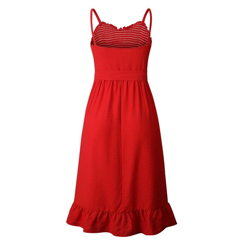 ruffles pleated boho summer beach dress (4)