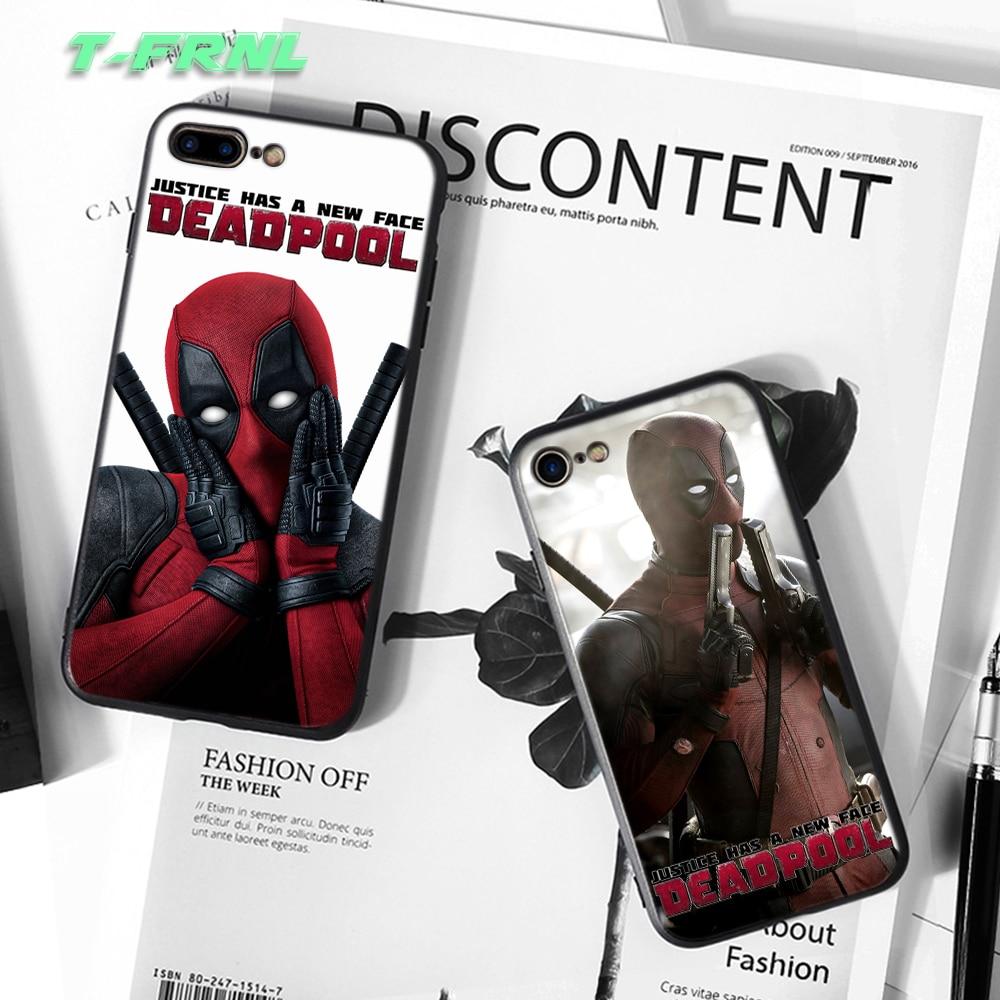 For Coque iPhone SE դեպքում 5 5S 6 6S 7 8 Plus DEADPOOL - Բջջային հեռախոսի պարագաներ և պահեստամասեր - Լուսանկար 4