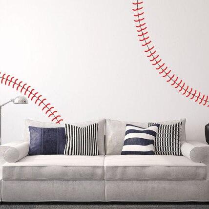 Compra béisbol etiqueta de la pared online al por mayor de ...