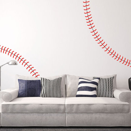 Baseball Wall Decals Baby Nursery Baseball Wall Sticker Sports Wall Decal  DIY Removable Wall Art Decors Sports N22 In Wall Stickers From Home U0026  Garden On ...