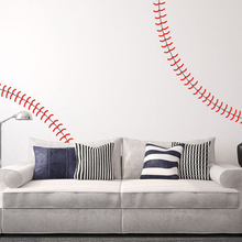 Baseball Wall Decals Baby Nursery Sticker Sports Decal DIY Removable Art Decors
