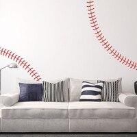 Baseball stickers muraux bébé pépinière baseball sport sticker mural sticker diy amovible mur art décors sport n22