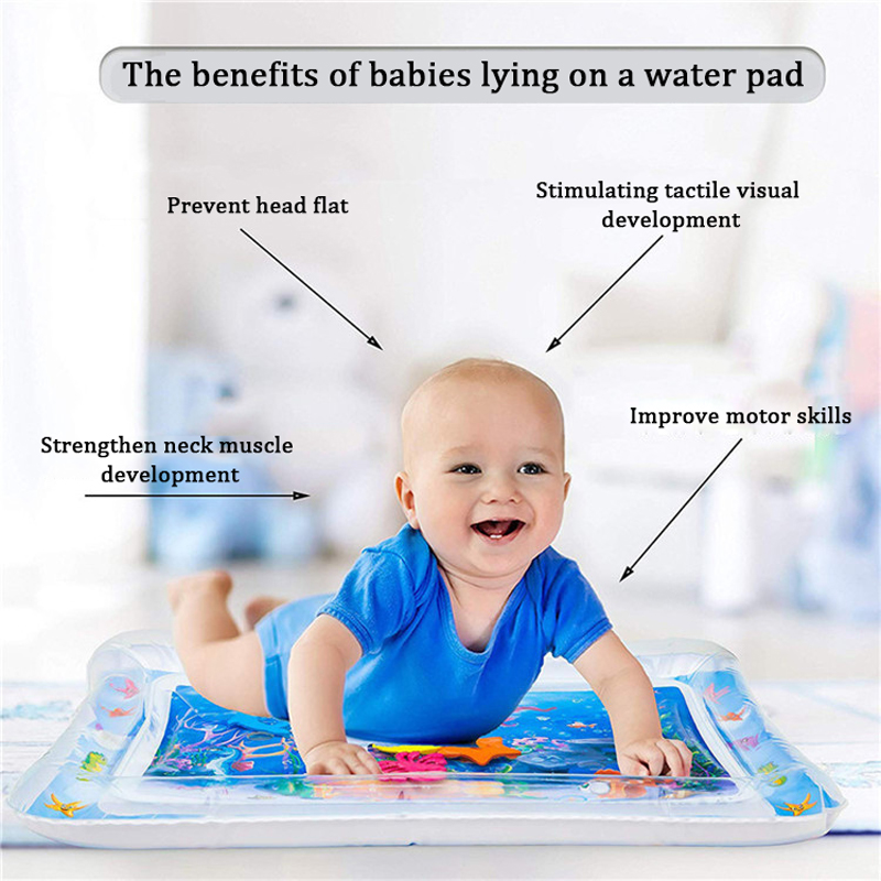 Water Mat for Baby Play Mat Carpet Inflatable Water Mat for Babies Tummy Time Inflatable Water Mat for Babies Ensory Stimulation (16)