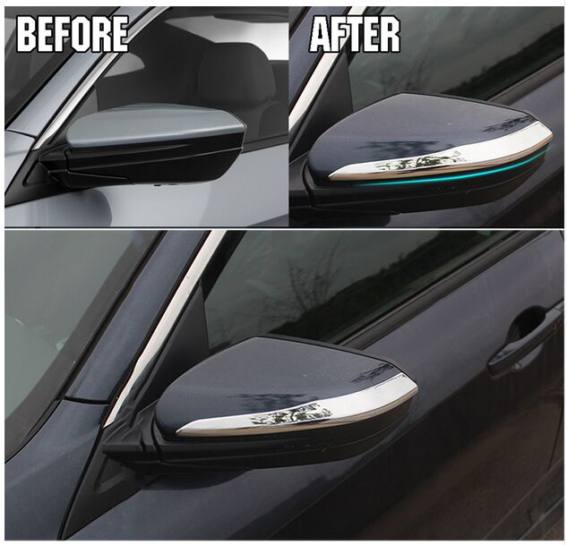 FIT FOR HONDA CIVIC 2016 2017 REAR VIEW SIDE DOOR MIRROR CHROME STRIP COVER  TRIM BEZEL PROTECTOR MOLDING GARNISH OVERLAY In Chromium Styling From ...