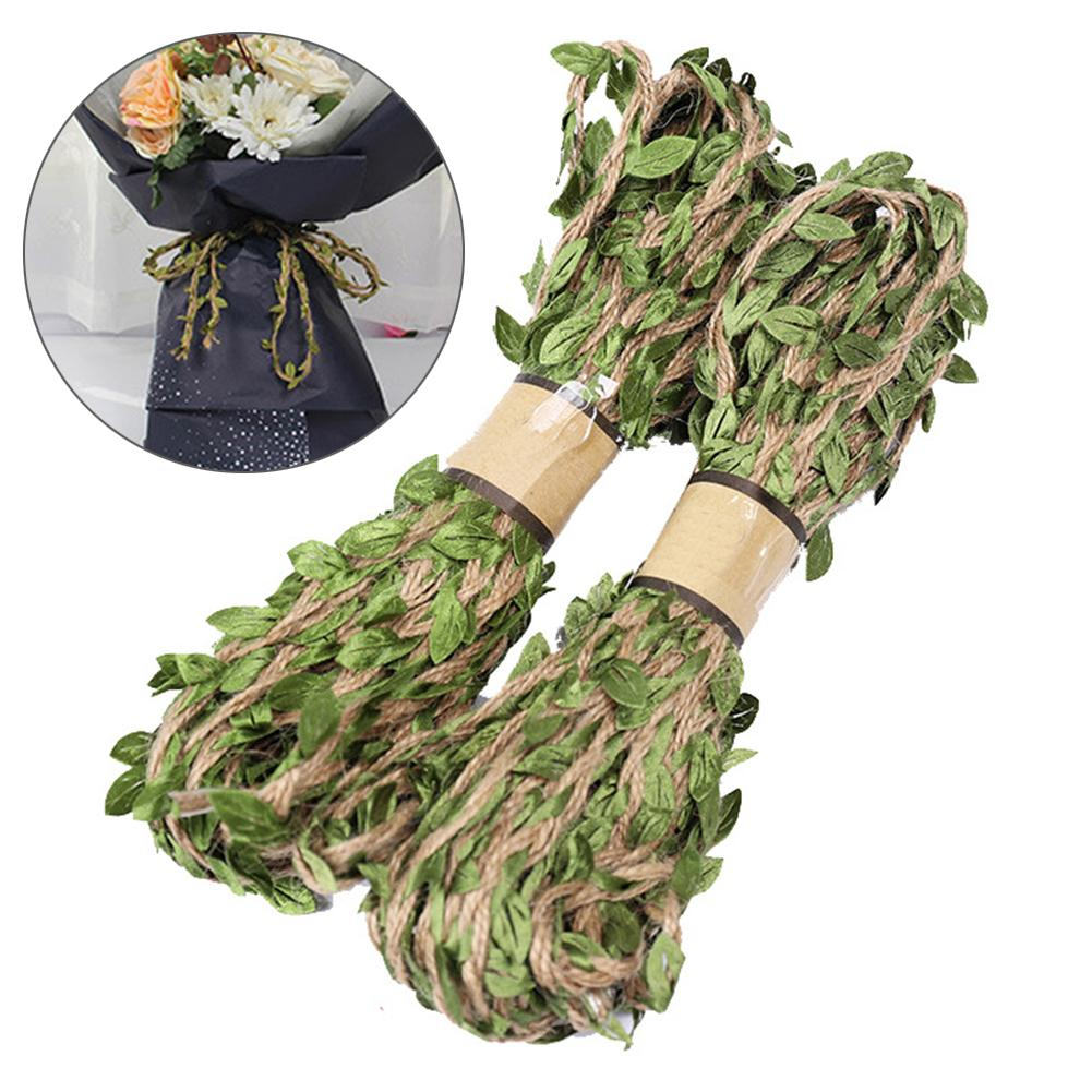 10m Leaf Natural Hessian Jute Twine Rope Burlap Ribbon Craft Party Decor New
