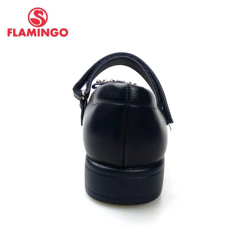 FLAMINGO Arco Do Pé design Spring & Summer Tamanho 31-36 Hook & Loop Ao Ar Livre sapatas da escola para a menina Livre grátis 82T-GB-0847/0848