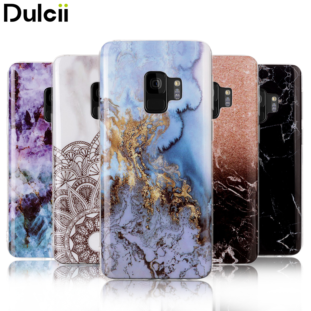 Dulcii for Samsung S9 Case Marble for Samusng Galaxy S9 Plus Phone Cover Soft Gel Glossy IMD Patterned TPU Cases S9+ G960 G965 ...