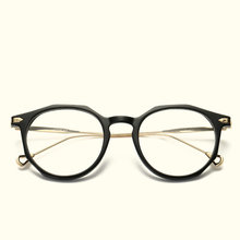 c976cc1e63 Mincl Round Oval Metal Oversize Eyeglasses Frame for Women s Men s Retro  Optical