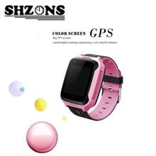 "Ребенок GPS часы телефон 1.44 ""Цвет Экран HD Сенсорный экран 128 МБ + 64 МБ с фонариком Камера SIM SOS GPS часы ребенок часы"
