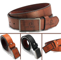 fashion design casual Square smooth buckle personalized PU leather men belt  belts for women and male waist strap Free Shipping