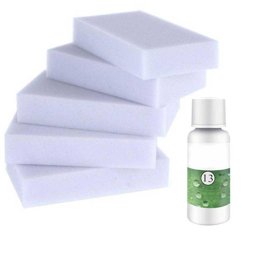 20ml 50ml+5pcs Spong HGKJ-13 High Concentrated Car Roof Interior Cleaning Agent Auto Seat Plastic Foam Cleaner  Cleaning Agent