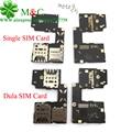 10 pcs original para moto g3 sim card titular slot para motorola moto G3 gen Sim Cartão de Memória suporte Flex Cable Dual & Single