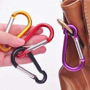 Image 5 - 5pcs צבעוני אלומיניום סגסוגת R בצורת Carabiner Keychain הוק אביב הצמד קליפ קמפינג טיולי טיפוס אבזר נסיעות ערכות