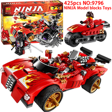 425pcs BELA 70727 X-1 Ninja Charger model Building Blocks toys Compatible Decool Sluban Ninjagoed Bricks Minifigure 9796